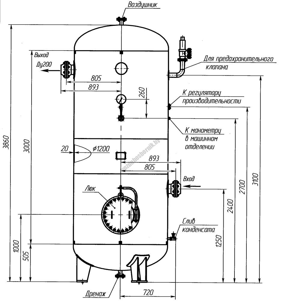 Эскиз ресивера кислорода