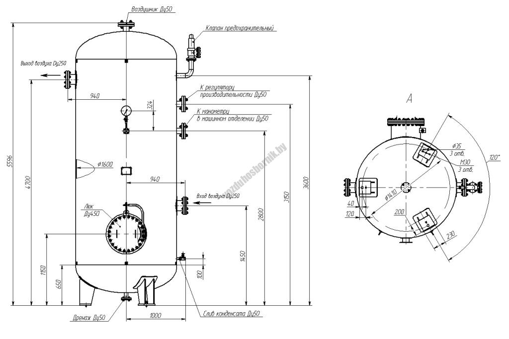Эскиз ресивера водорода