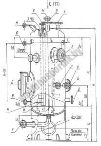 Аппарат емкостный цилиндрический для жидких и газовый сред тип 2